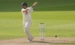 Ollie Pope hits another boundary.