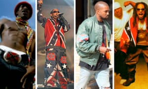 Rap statements … from left, André 3000, Ludacris, Kanye West and Lil Jon.