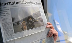 The International New York Times has said its printer in Thailand removed an article on the moribund state of the kingdom's economy.