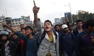 Tensions in Nepal are rising over the slow pace of aid delivery. Dozens of people blocked traffic and shouted slogans against the government after being denied space on free buses out of Kathmandu.