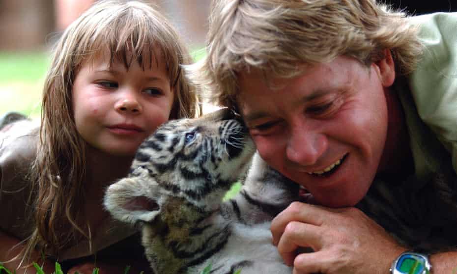 Bindi and Steve Irwin in 2003