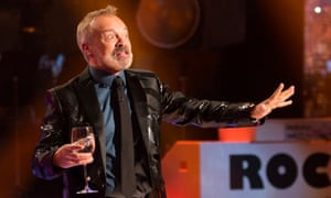 'So high-octane even his ears and eyebrows look animated' … Graham Norton warms up his crowd.