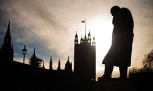 The statue of Winston Churchill at Westminster