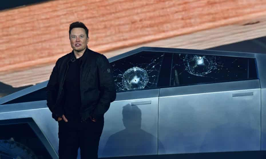 Elon Musk in 2019. The announcement drew cheers and applause from a small audience at Tesla's manufacturing plant in Austin.