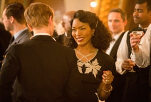 Out of her comfort zone … Angela Bassett sings in Close to the Enemy.