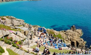 The Minack Theatre overlooking the sea