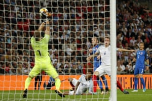 Hart saves the shot from Nemec.