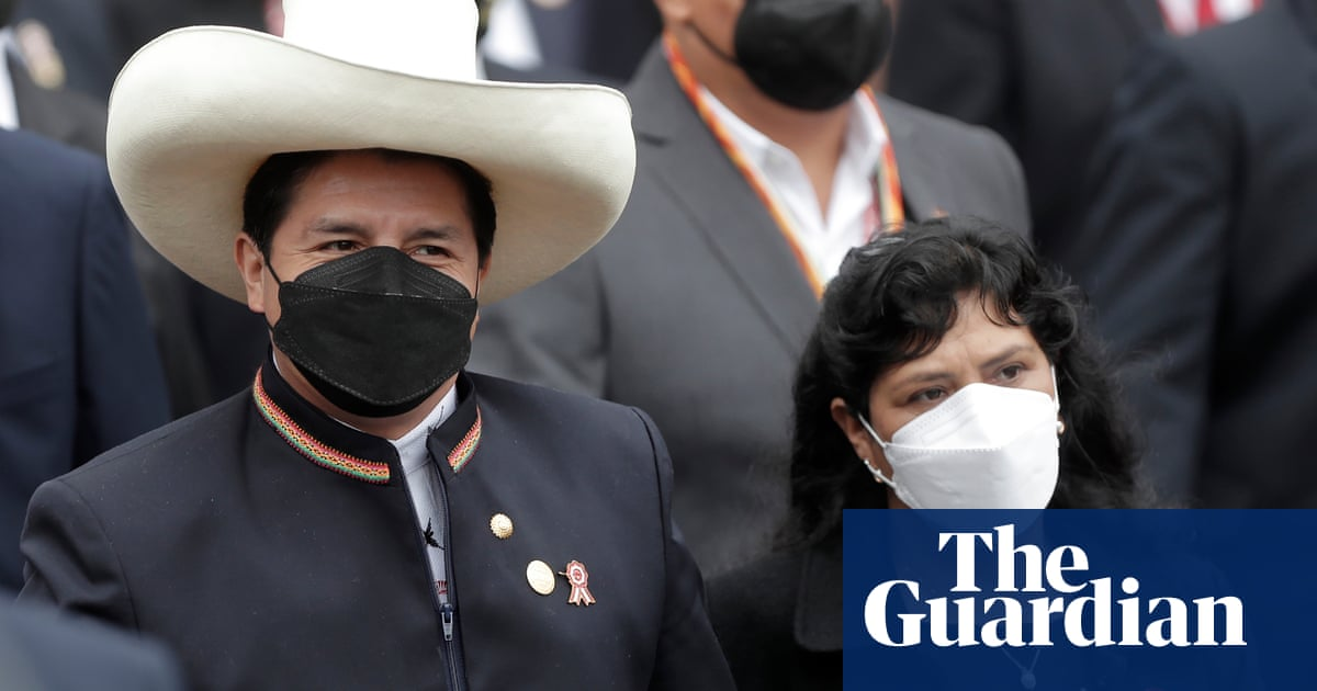 Leftwing rural teacher Pedro Castillo sworn in as president of Peru