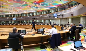 The Coreper (committee of the permanent representatives) meeting of EU ambassadors in Brussels this morning.