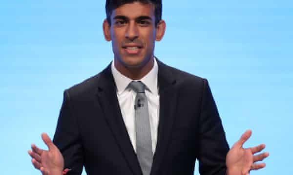 Sunak addresses the Conservative party conference, 2019.