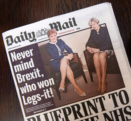 How the Daily Mail presented the story.