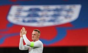 Wayne Rooney says goodbye to international football.