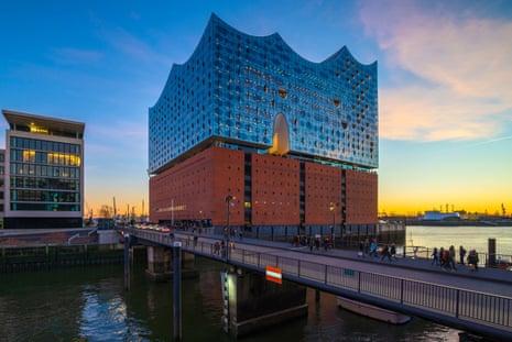 Hamburg's ultra-modern Elbphilharmonie concert hall.