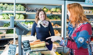 Marion Williams a Triodos Bank customer visiting the hiSbe supermarket in Brighton
