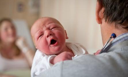 New baby on hospital ward