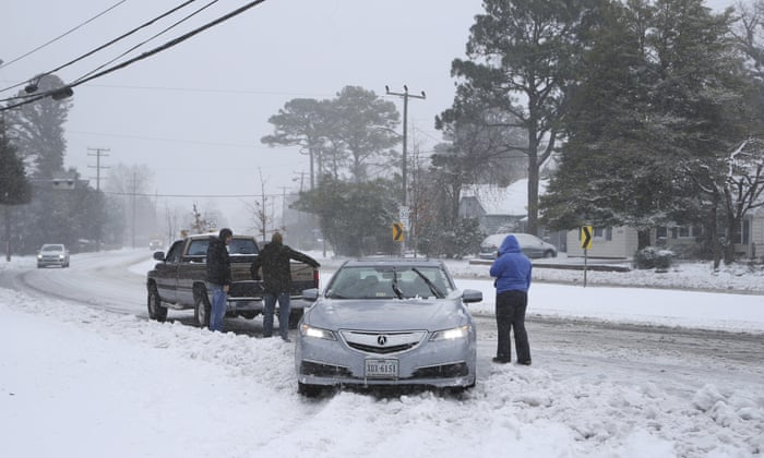 Icy winter storm causes accidents and deaths in south and eastern US