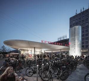 Nørreport Station by COBE, Gottlieb Paludan Architects and Sweco in Copenhagen, Denmark