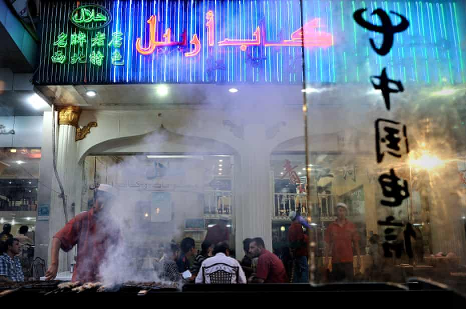 Middle Eastern and North African food stalls and restaurants line Exotic Street in Yiwu.