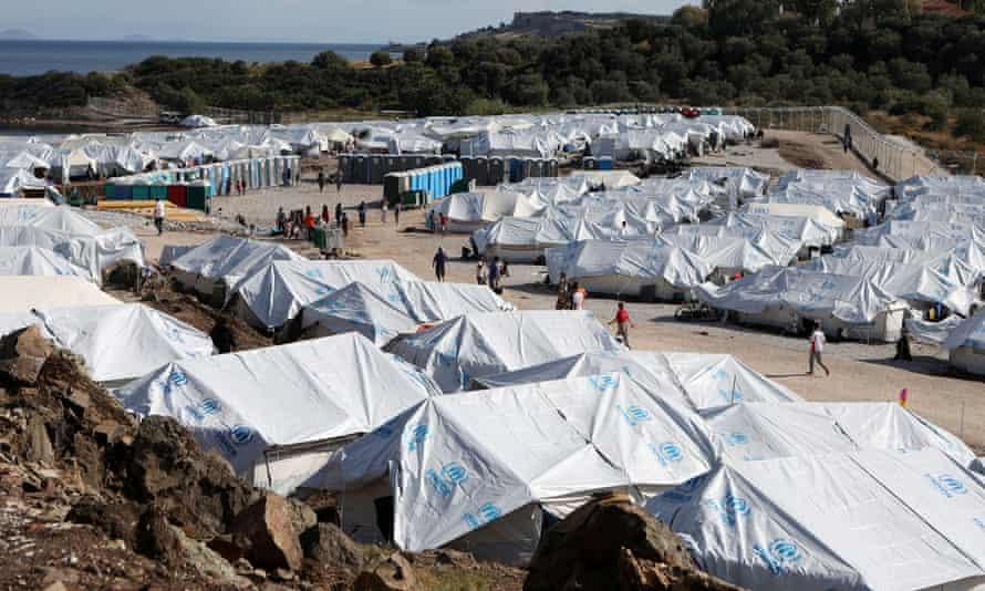 The Kara Tepe refugee camp on Lesbos