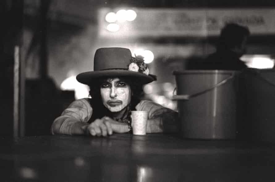Bob Dylan in performing makeup.