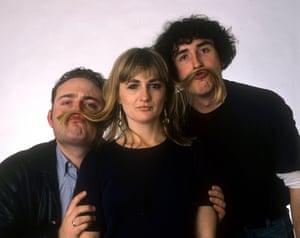 Caroline Aherne with Steve Coogan and John Thomas in 1993