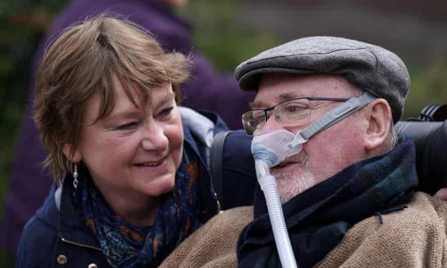 Noel Conway his wife, Carol, pictured in 2018