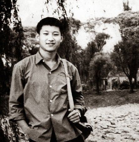Xi Jinping as a young man in the countryside.