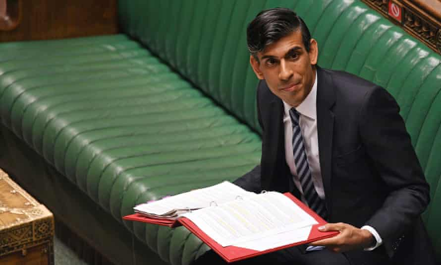 Rishi Sunak in the House of Commons.