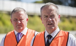 Bill Shorten (right) and Anthony Albanese