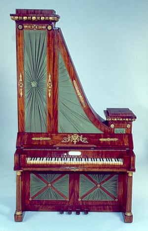 The upright harpsichord, the Harfenklavier