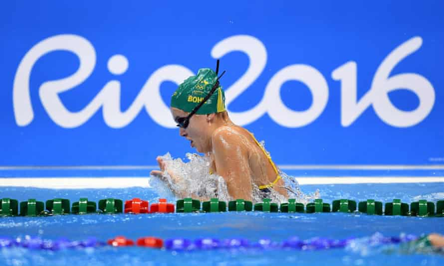 Australian swimming team training sessionepa05451514 Australian swimmer Georgia Bohl swims during the team's first training session at the Rio Olympic Games Aquatics Centre in Rio de Janeiro, Brazil, 01 August 2016. The Rio 2016 Olympics will take place from 05 August until 21 August 2016 in Rio de Janeiro. EPA/DAVE HUNT AUSTRALIA AND NEW ZEALAND OUT