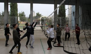Students play during a break at Hand in Hand bilingual School in Jerusalem.