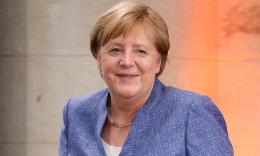 Angela Merkel receives the Harnack medal - an award from the Max Planck Society for services to society – in Berlin this week 29 Jun 2021