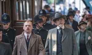 The ABC Murders, with Rupert Grint as Inspector Crome and John Malkovich (in hat) as Hercule Poirot.