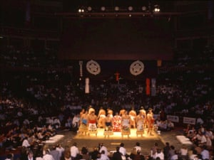 Sumo wrestling in October 1991, it was the first Grand Sumo Tournament to be held outside of Japan