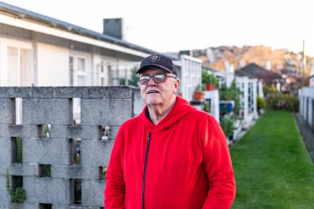 Garry Harvey, South Dunedin pensioner and flat resident. South Island, New Zealand.