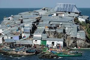 General view of Migingo island.