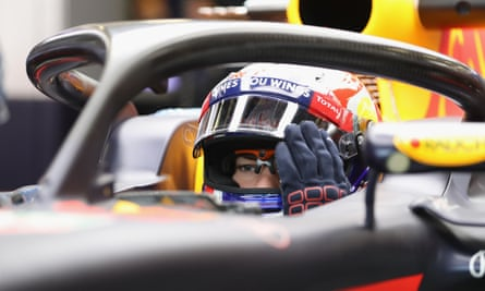 Red Bull's Pierre Gasly tests the halo safety device last year. All 10 F1 teams tested it at different stages last season.