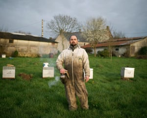 Mathieu Audo, beekeeper'Somewhat like a shepherd, Mathieu moves his bees from one pasture to another (a practice called transhumance), to produce honey with different flavours'