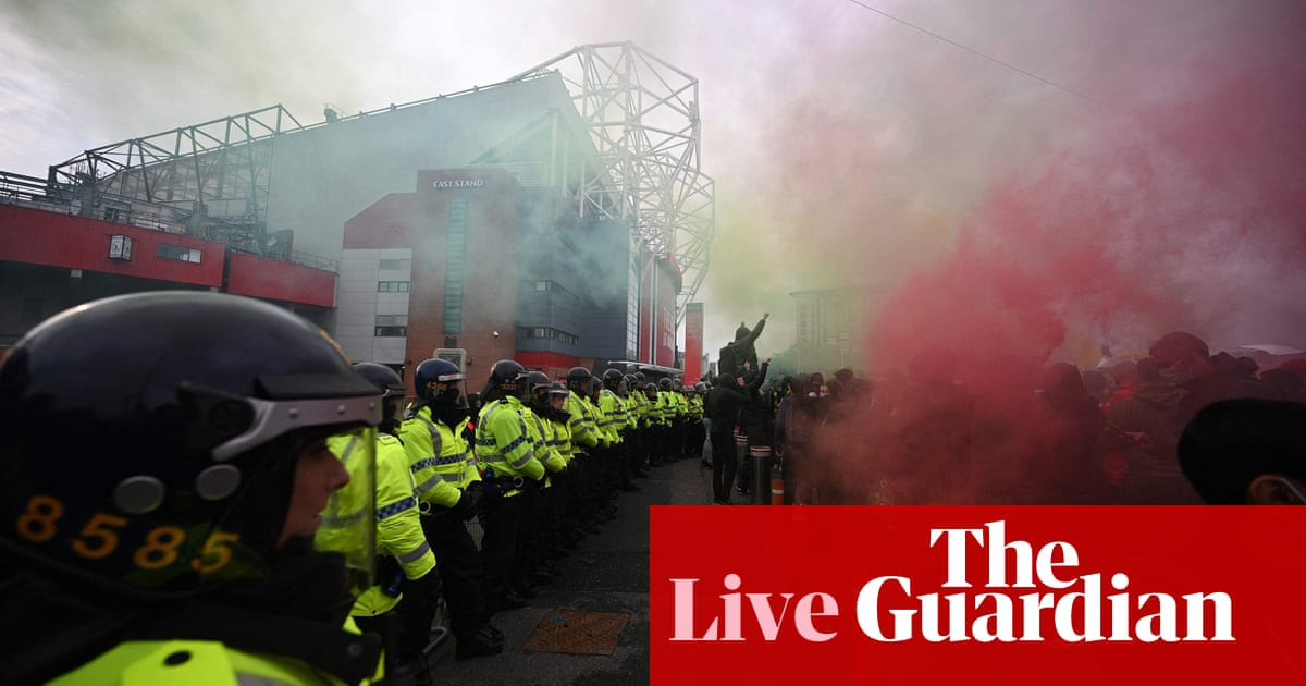 Manchester United v Liverpool goes ahead amid anti-Glazers protests – live updates!