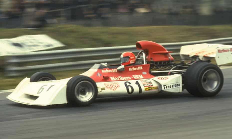 Niki Lauda in action in his Marlboro BRM during the Race of Champions at Brands Hatch, 1973. The following year he was signed by Ferrari.