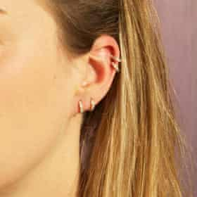 The sleeper … tiny hoop earrings, £14.95, Etsy.