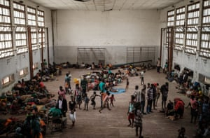 Beira, MozambiquePeople from the isolated district of Buzi take shelter in the Samora Machel secondary school which is being used as an evacuation centre in Beira, following the devastation caused by Cyclone Idai.