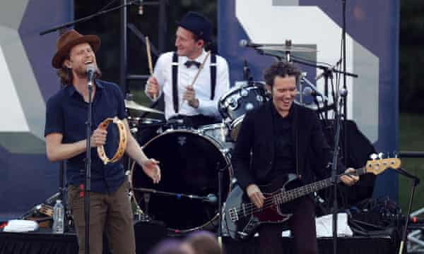 The Lumineers perform at South by South Lawn.