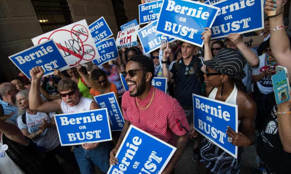 Bernie Sanders supporters in Philadelphia in July 2016.
