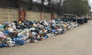 Another overflowing pile of rubbish in Lviv.