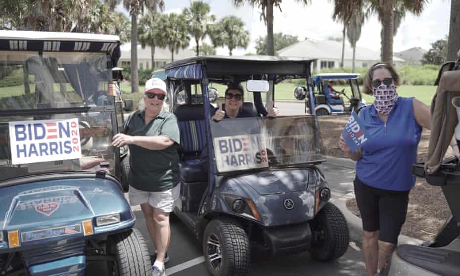 Pro-Biden golf carts