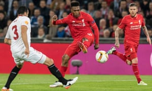 Liverpool's Daniel Sturridge opens the scoring in the Europa League final with a fine finish.