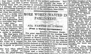 Manchester Guardian, 13 February 1920.