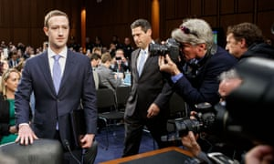 Mark Zuckerberg preparing to give evidence on Capitol Hill